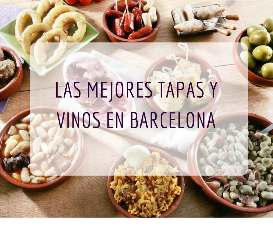 las mejores tapas y vinos en barcelona