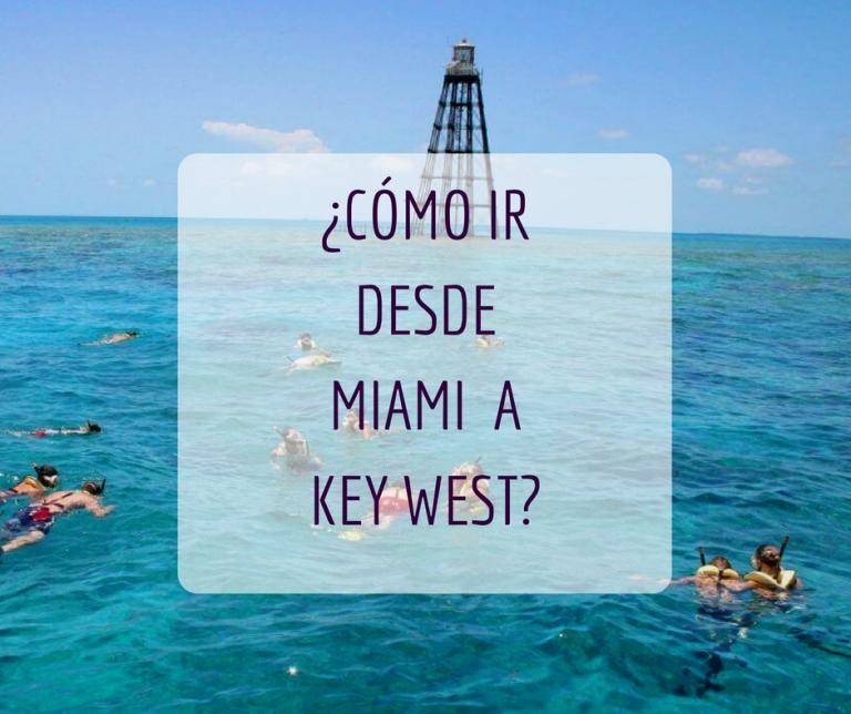 cómo ir desde miami a key west