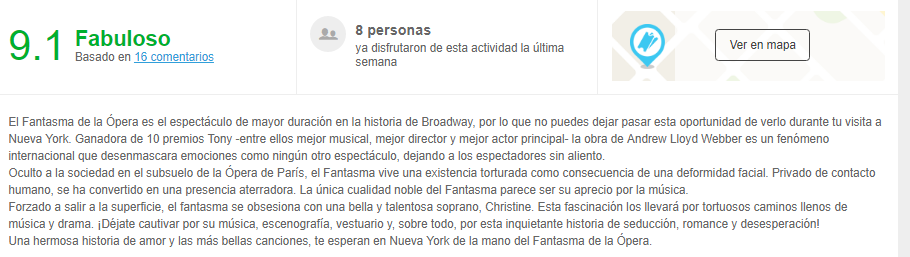 comentarios y reviews el fantasma de la opera