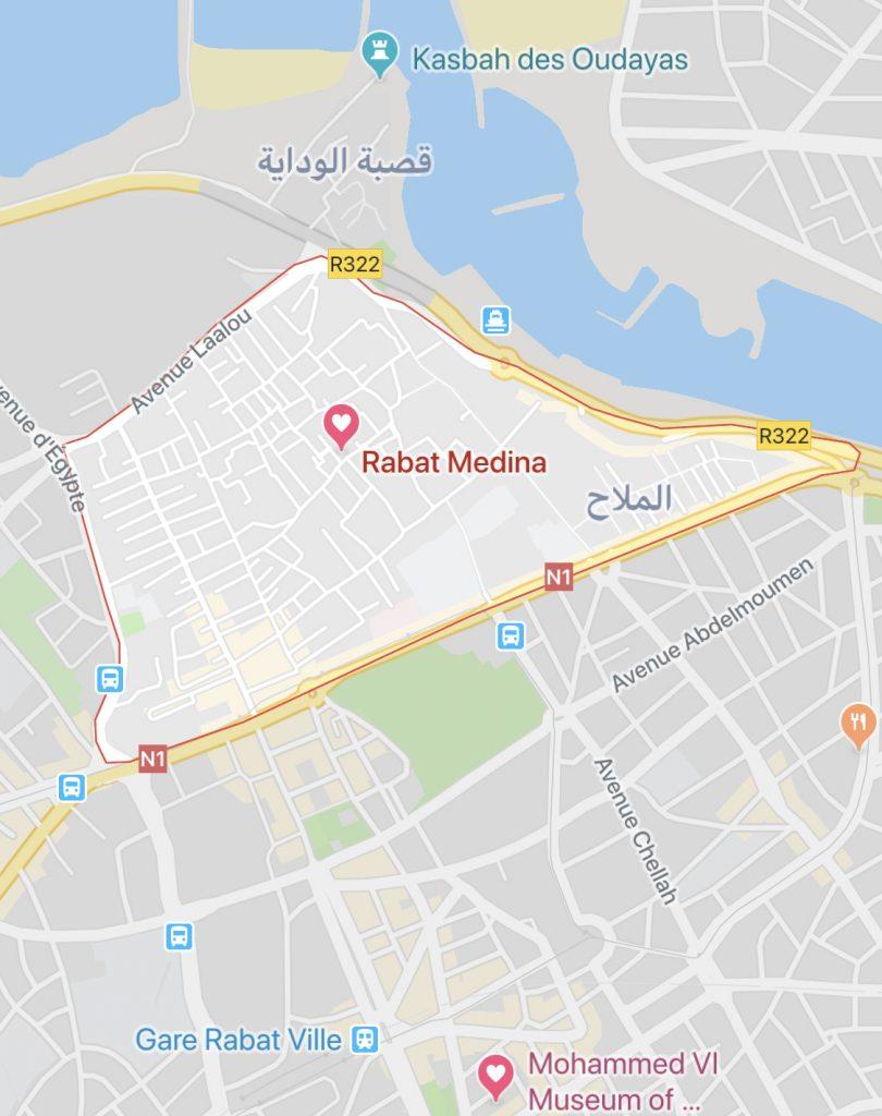 dónde hospedarse en Rabat?