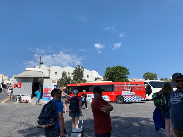 Terminal de bus fira Santorini