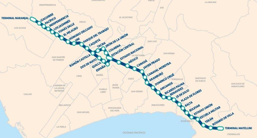 buses desde miraflores al centro de Lima